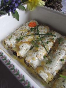 Cannelloni z grzybami leśnymi z sosem serowo