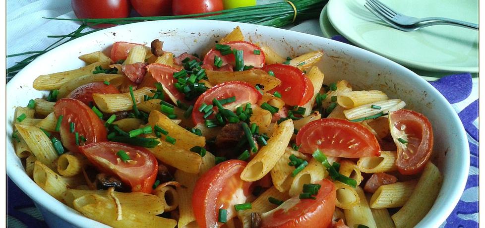 Zapiekane rurki z kiełbasą i pomidorami (autor: monikat83 ...