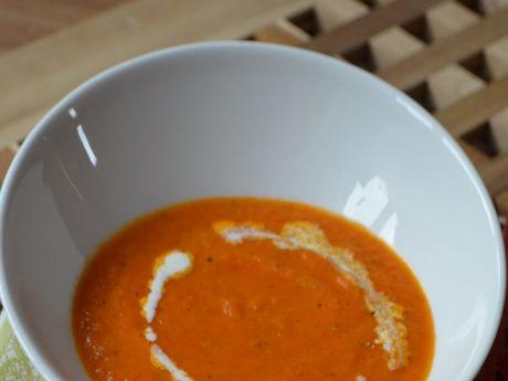 Przepis  zupa krem z pomidorów i papryki przepis