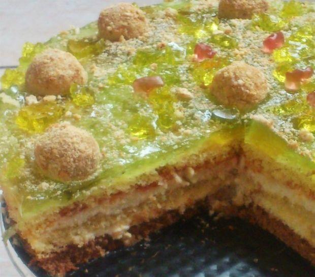 Przepis  tort z kremem jabłkowym 3-di przepis