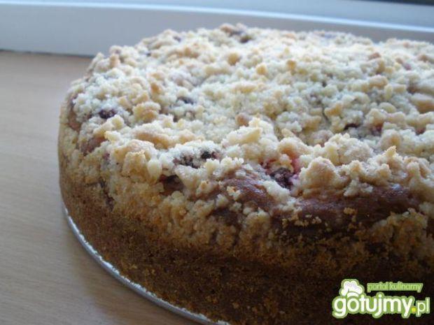 Przepis  ciasto na maślance z malinami przepis