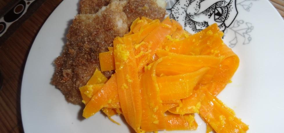 Smażona ryba z makaronem z marchewki (autor: agulastabi ...
