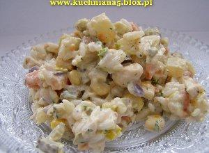 Sałatka z kurczaka i ananasa  prosty przepis i składniki