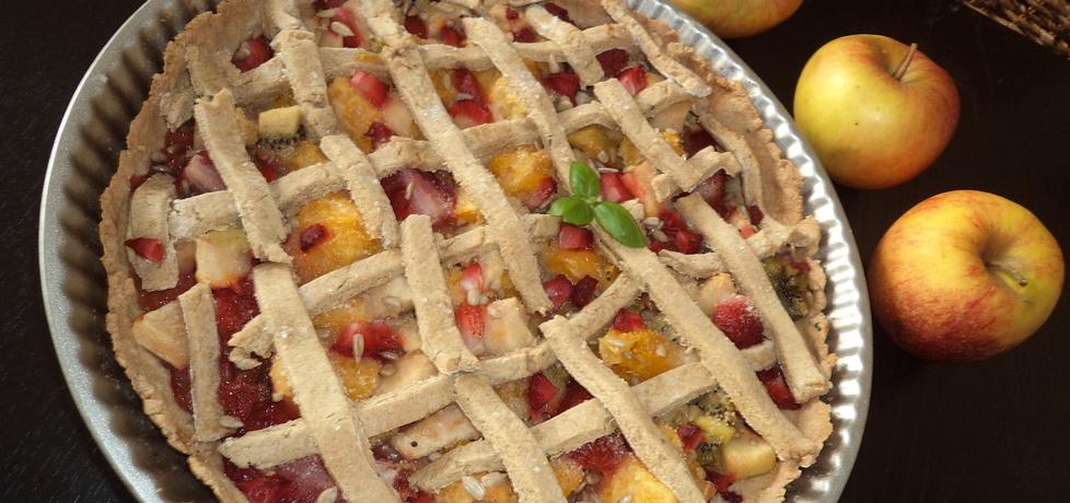 Tarta z owocami na spodzie z mąki gryczanej :) (autor: norweska20 ...