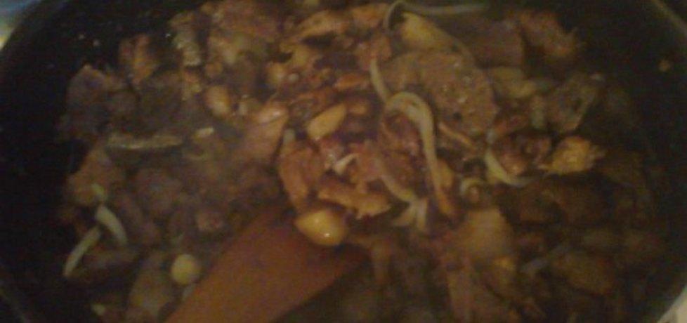 Duszone mięso z wątróbką i cebulką (autor: betka)