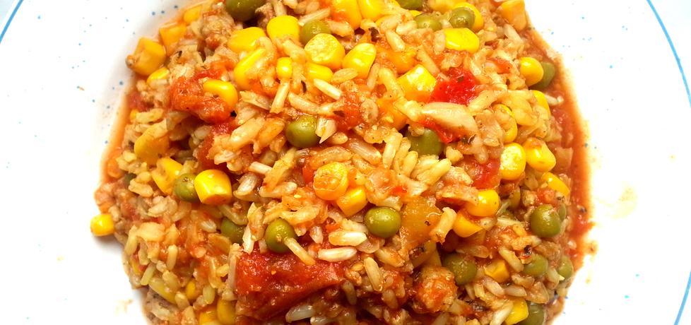 Zapiekanka ryżowa z mięsem mielonym i mieszanką warzyw (autor ...