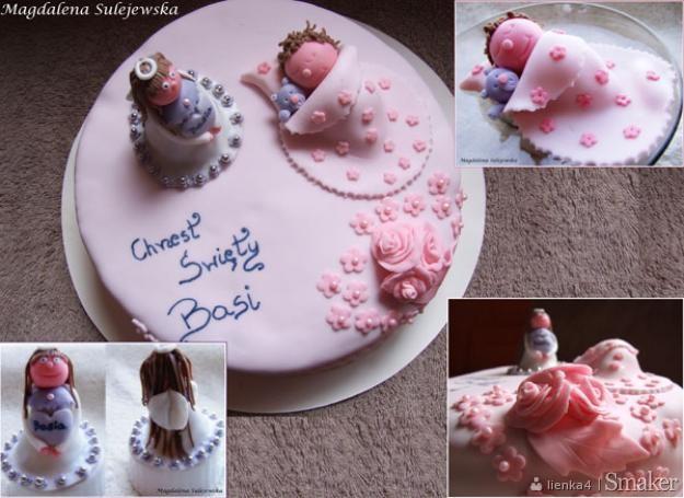 Tort na chrzciny dziewczynki