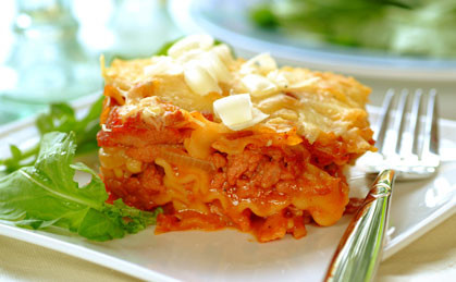 Dekadencka lasagne z boczkiem i parmezanem
