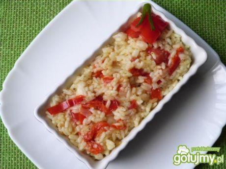 Przepis  risotto z papryką i pomidorami przepis