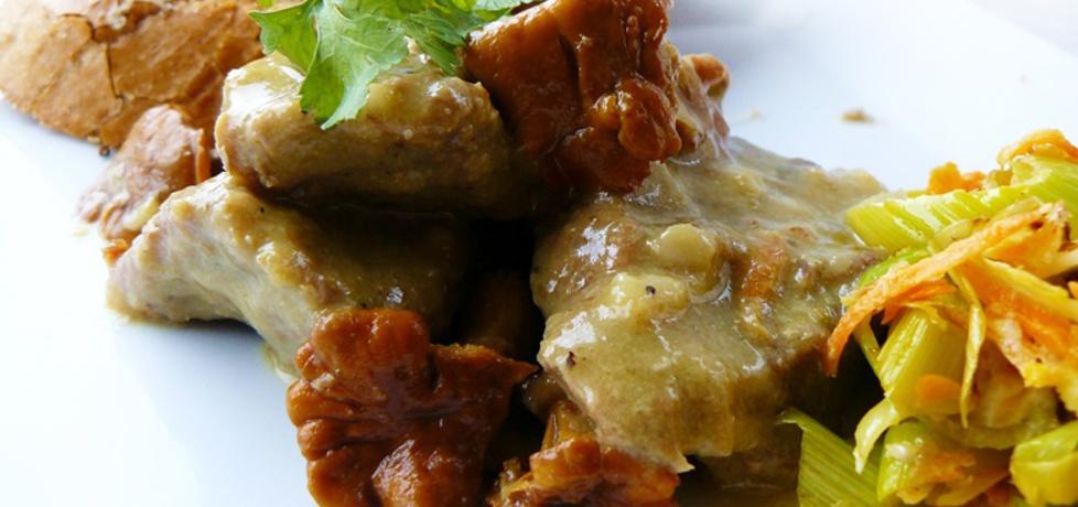 Gulasz z kurkami i kremowym sosem (autor: ostra-na