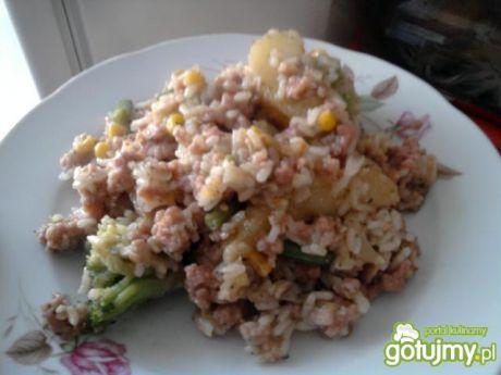 Przepis  ryż z warzywami i mięsem mielonym przepis