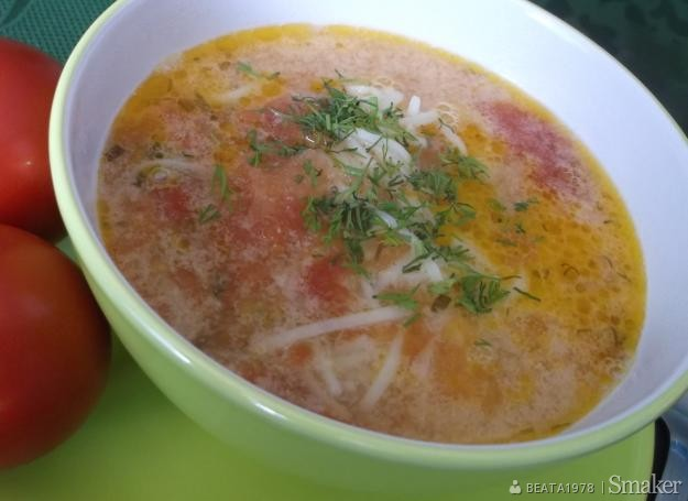 Zupa pomidorowa na boczku