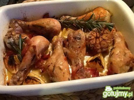 Przepis  kurczak z rozmarynem i czosnkiem przepis