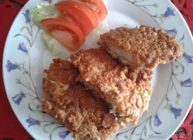 Pierś z kurczaka w panierce z krakersów
