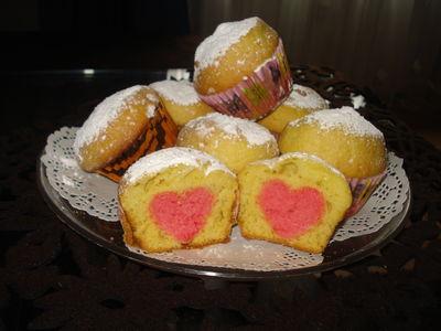 Muffinki z sercem
