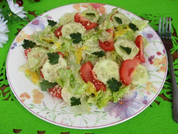 Przepis  sałatka warzywna z kaszą kuskus przepis