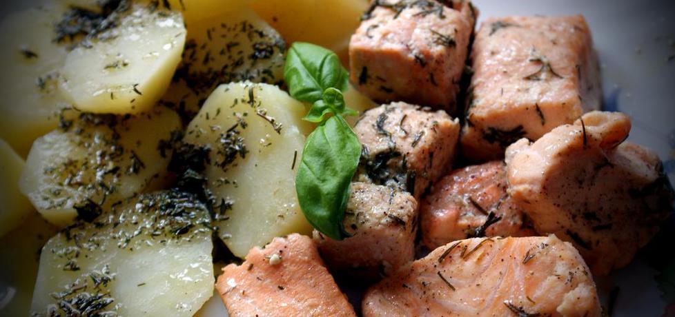 Obiad w parze z łososiem (autor: poison1988)