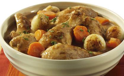 Potrawka z kurczaka z białym winem