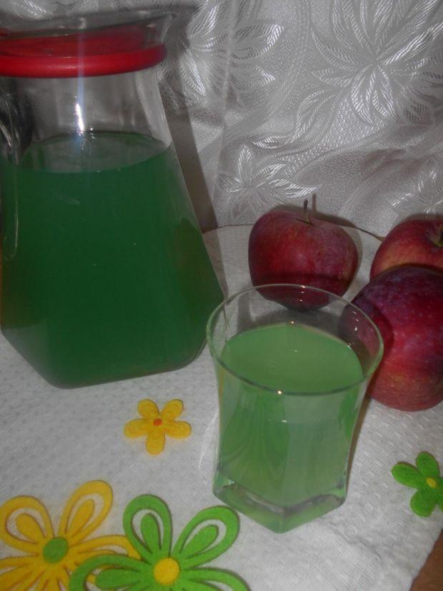 Przepis  kompot winogronowy z jabłkami i miętą przepis