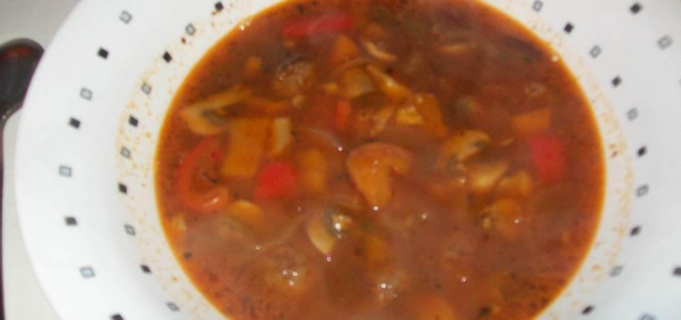 Rozgrzewająca zupa meksykańska z kuleczkami z mięsa mielonego ...