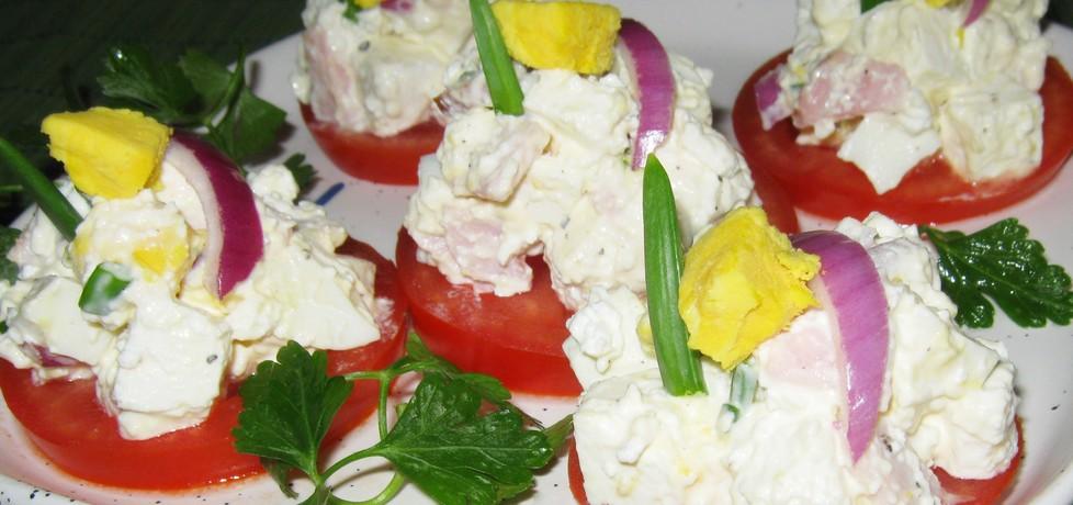 Sałatka na pomidorze (autor: katarzynka455)