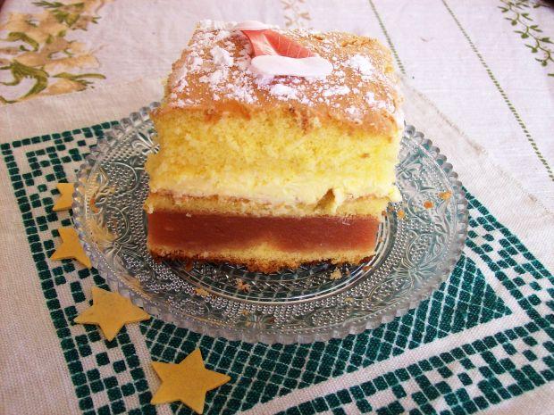 Przepis  biszkoptowe ciasto z jabłkami i serem przepis