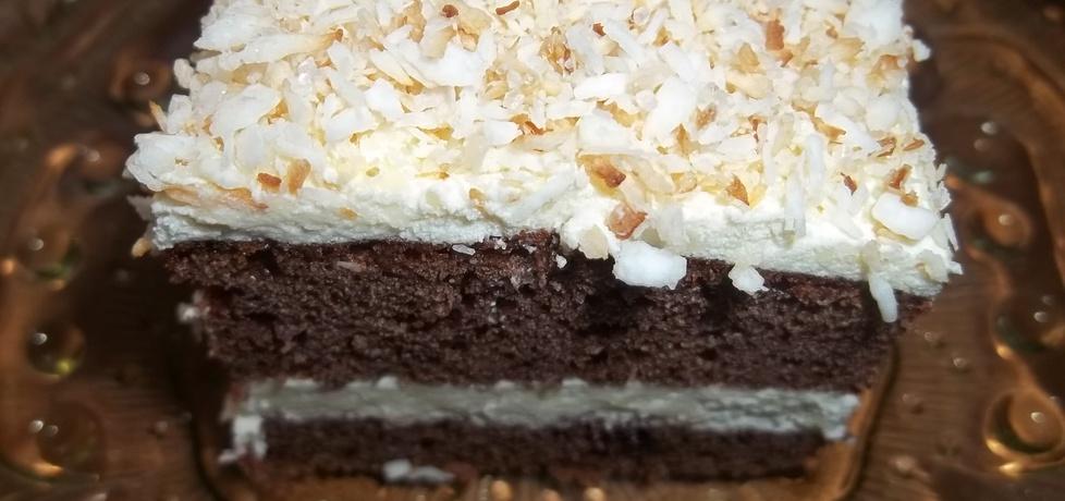 Ciemne ciasto z kremem i wiórkami (autor: gosia1988 ...