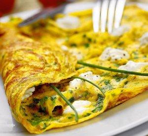 Ziołowy omlet  prosty przepis i składniki