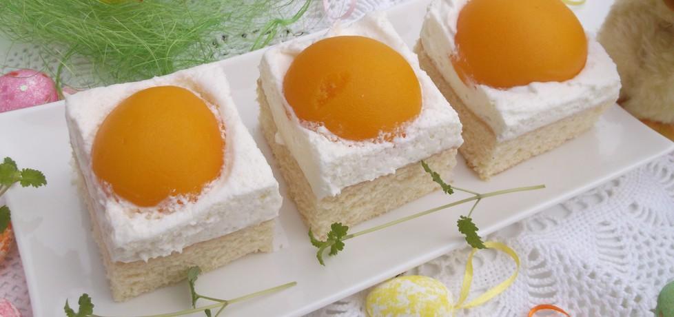 Ciasto wielkanocne,,jajko sadzone'' (autor: babeczka35 ...