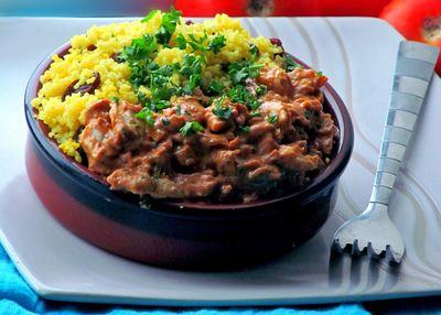 Marokańska pasta z kurczakiem i kaszą kuskus