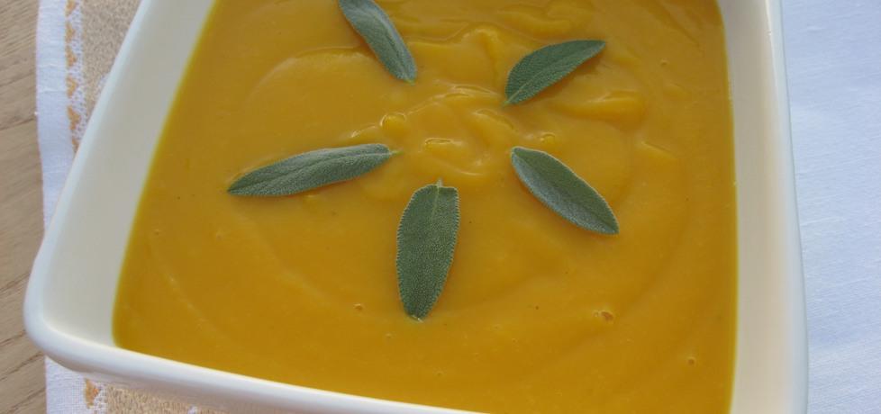 Kremowa zupa z dyni z szałwią (autor: anemon)