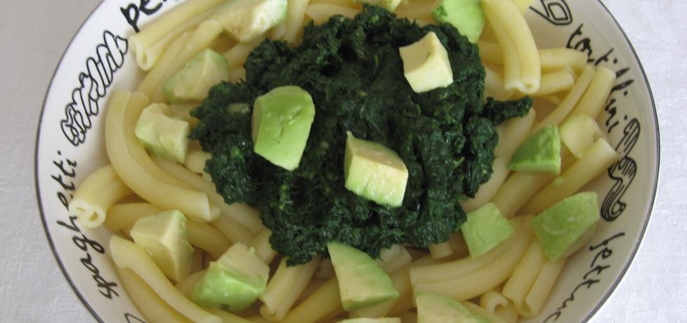 Makaron z awokado i szpinakiem (autor: anemon)