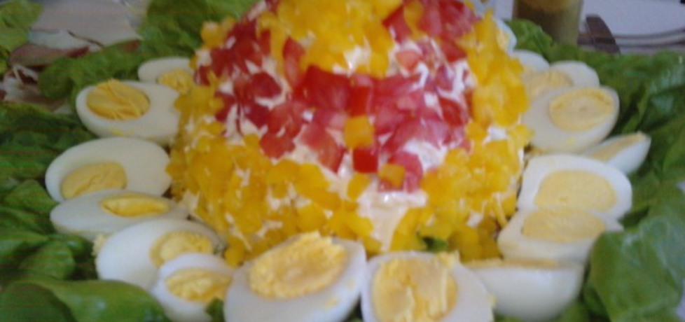 Kalafior nadziewany mięsem z otoczką warzywno