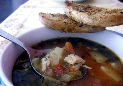 Pikantna zupa z kurczaka