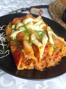 Cannelloni z wołowiną i warzywami zapiekane z beszamelem ...