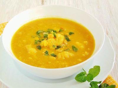 Zupa kukurydziana z lanymi kluseczkami
