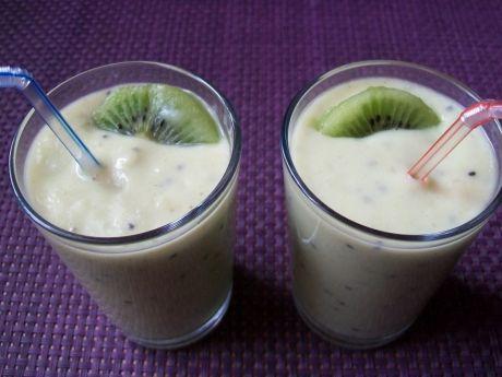 Przepis  koktajl kiwi bananowy z awokado przepis