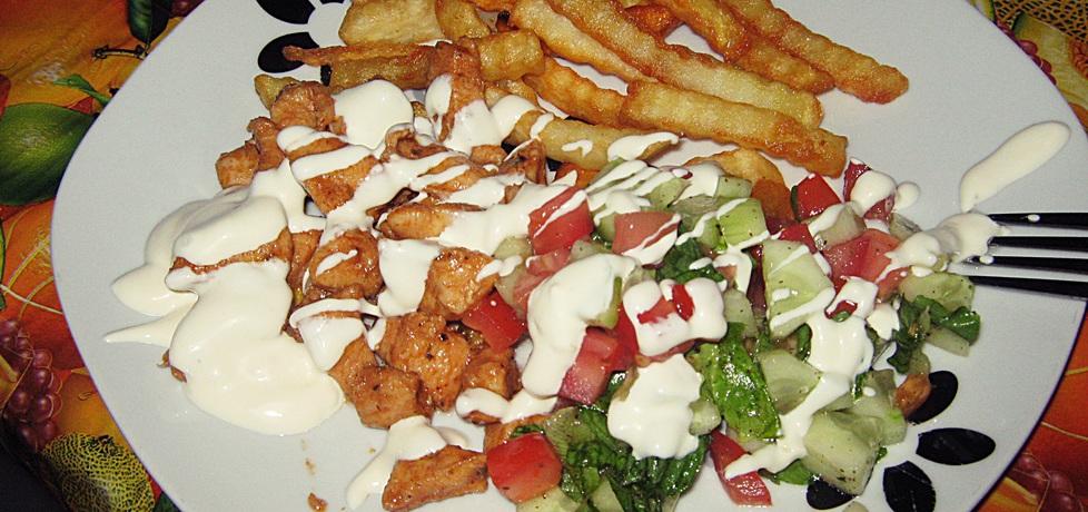 Kebab drobiowy na talerzu (autor: violetowekucharzenie ...
