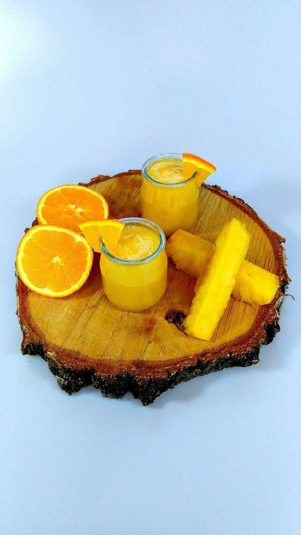 Przepis  ananasowy koktajl mocy przepis