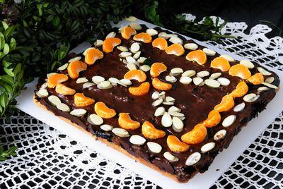 Świąteczny czekoladowy mazurek