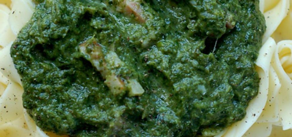 Makaron z sosem szpinakowym (autor: zchatynakoncuwsi ...