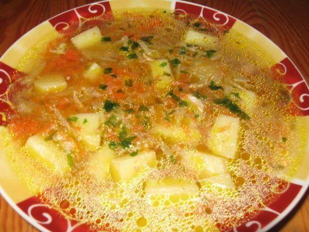 Przepis  zupa-kapuśniak ze słodką kapustą przepis
