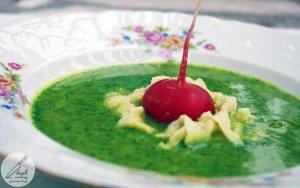 Zupa krem z liści rzodkiewek  prosty przepis i składniki
