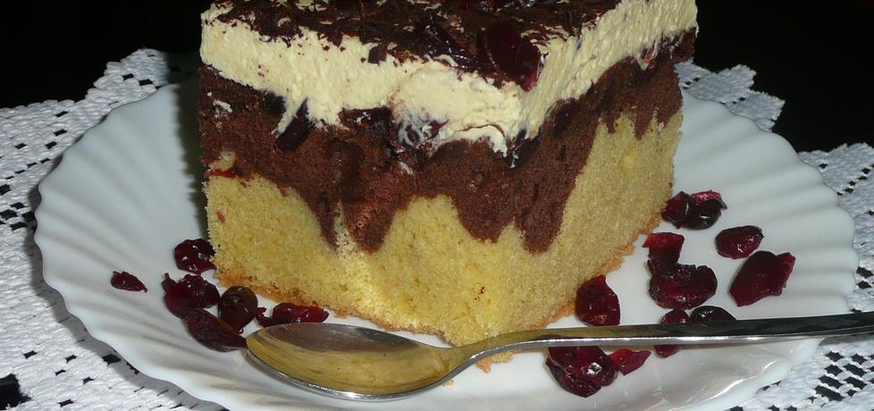 Ciasto czekoladowe z żurawiną (autor: justyna92)