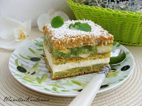 Przepis  ciasto kajmakowo-makowe z jabłkami przepis