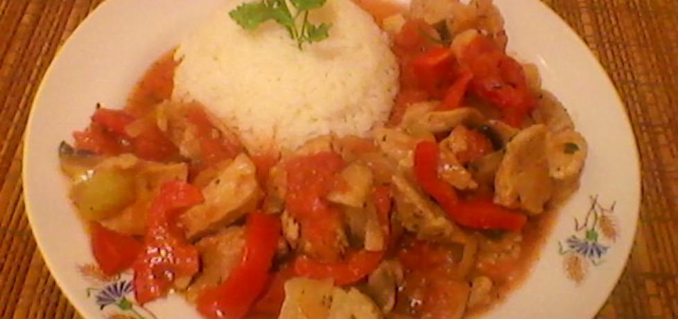 Gulasz z szynki z warzywami (autor: justyna223)