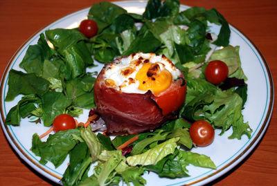 Pomidory faszerowane szpinakiem zapieczone serem ...