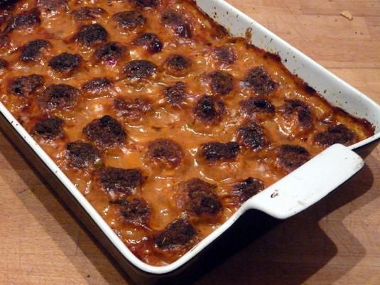 Klopsiki w sosie śmietanowo-pomidorowym