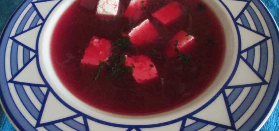 Barszcz czerwony z białym serem (autor: katarzyna40 ...