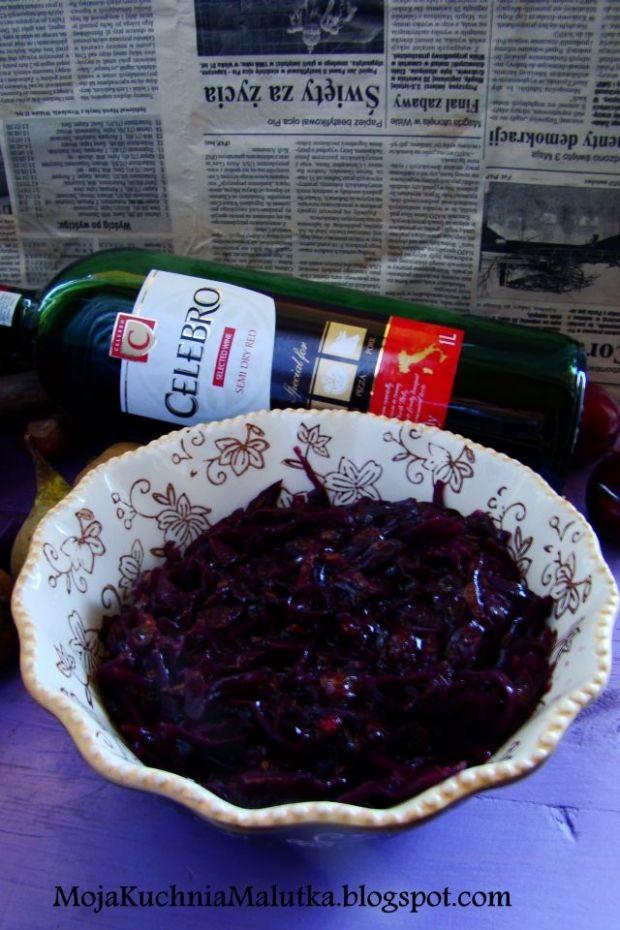 Przepis  czerwona kapusta na czerwonym winie przepis